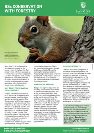 Conservation with Forestry Leaflet