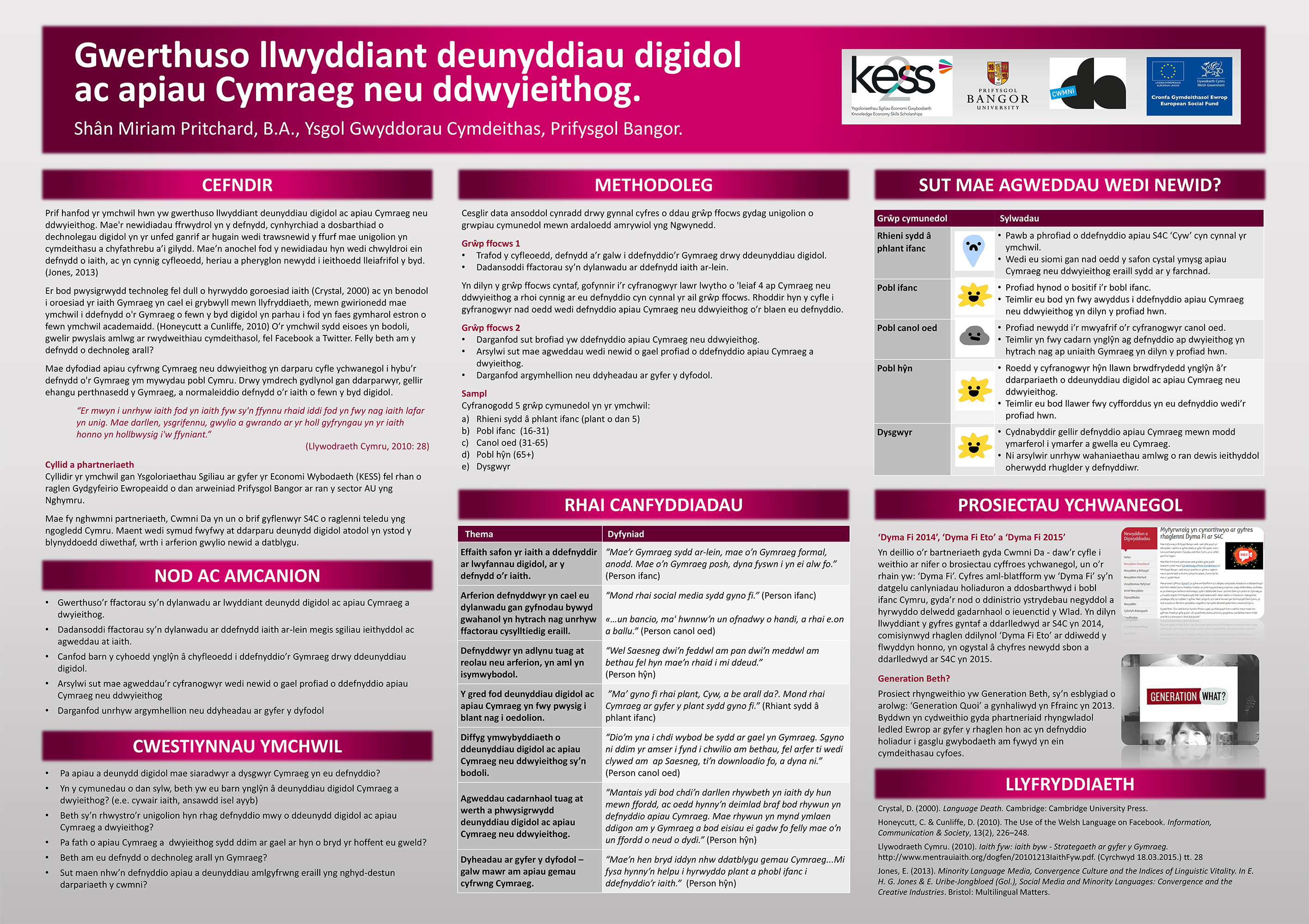 This Research Project Discusses The Use Of The Welsh Language Within The  Digital World, For A Postgraduatecourse, Which Has Been Funded By A KESS ...
