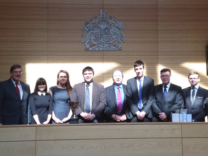 Winners of the 2012 Cwpan Griffiths Welsh Moot