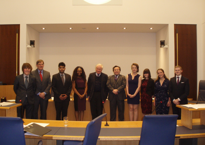 BULSM Finalists 2013, with Lord Kerr and Hefin Rees QC (5th and 6th from left, respectively)