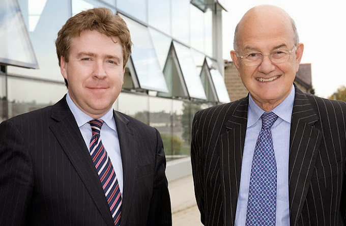 Prof. Dermot Cahill, Head of Bangor Law School, with Lord Igor Judge, Lord Chief Justice of England and Wales