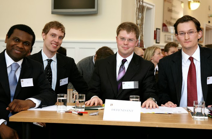 Participants at the European Moot Court Competition, which has twice been hosted at Bangor.