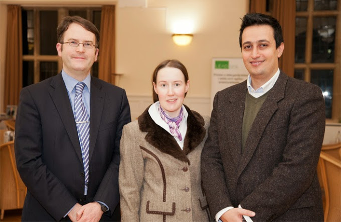 Dr Jasem Tarawneh of Manchester University (right), Bangor's Mark Hyland and PhD student Tamara Bukatz