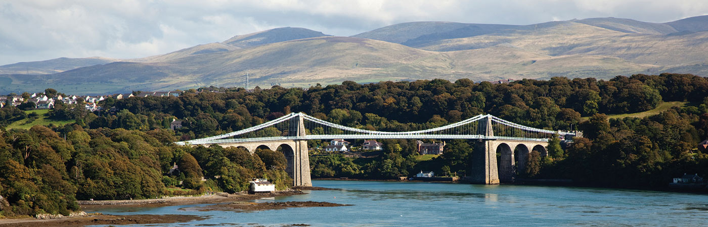 Image of the Swellies looking on to the Menai Bridge