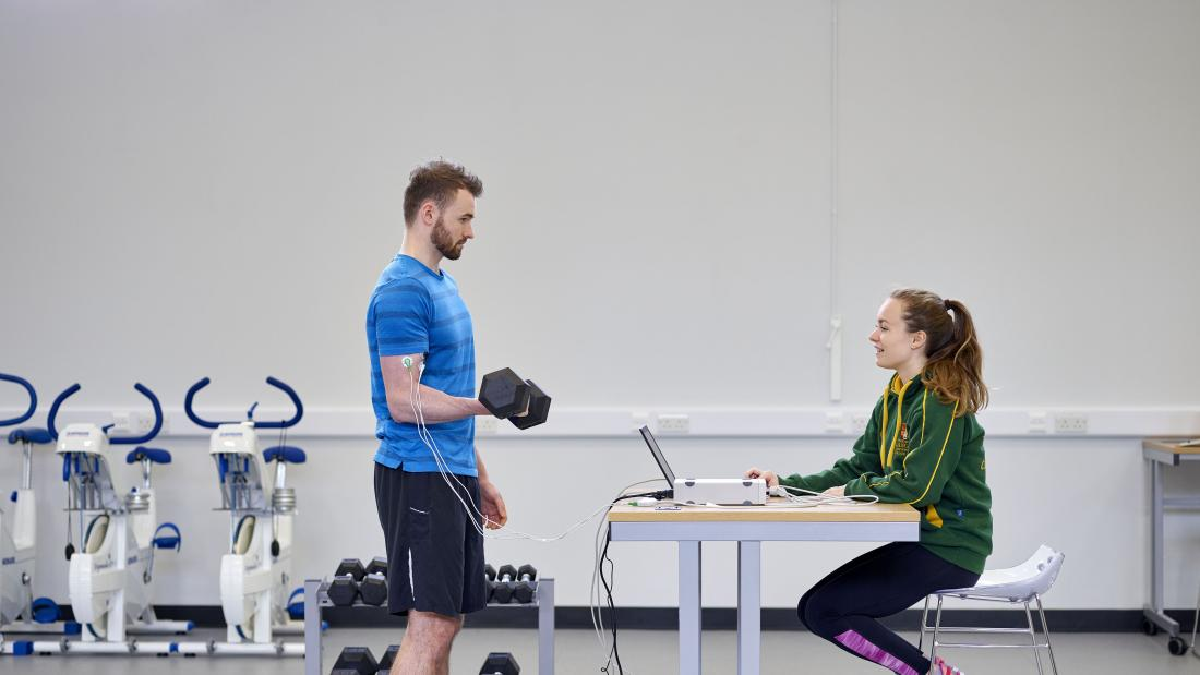 Sport Science study on person undertaking exercise