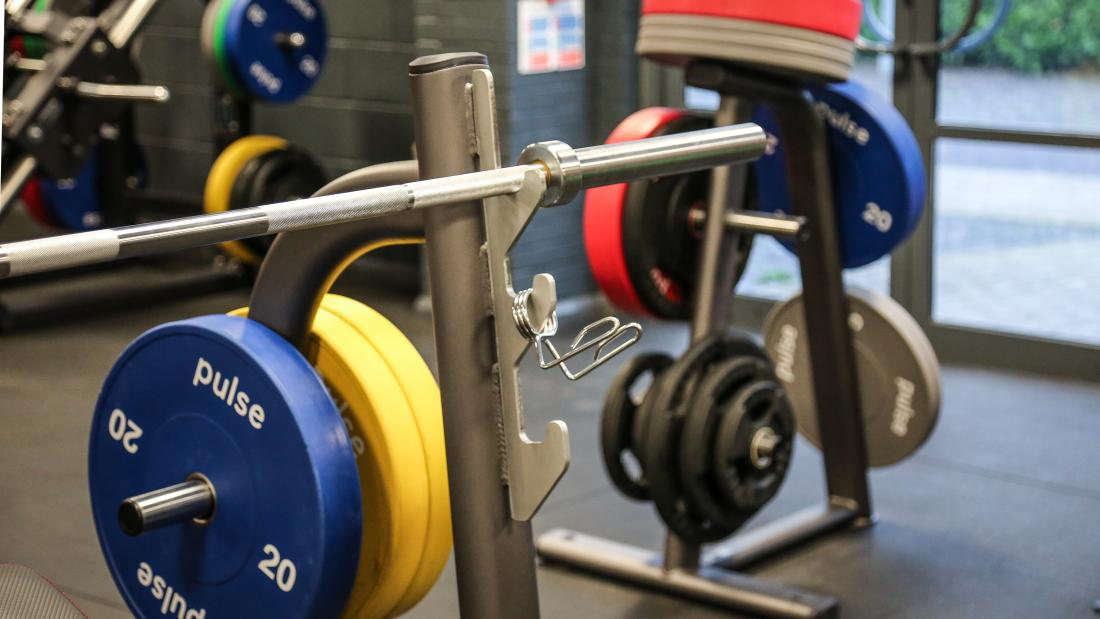 Weight lifting equipment at Canolfan Brailsford