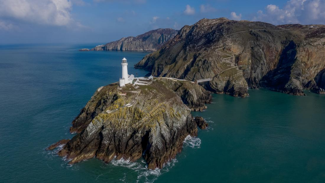 South stack off the coast of Holyhead in Anglesey