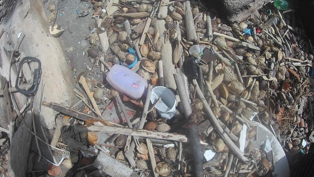 Illustrative image of plastic washed up on coast (not necessarily from the Philippines)