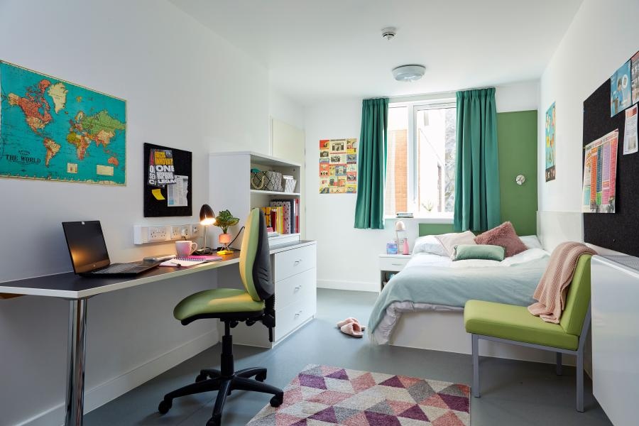 Inside one of the students flats at St Mary's Student Village