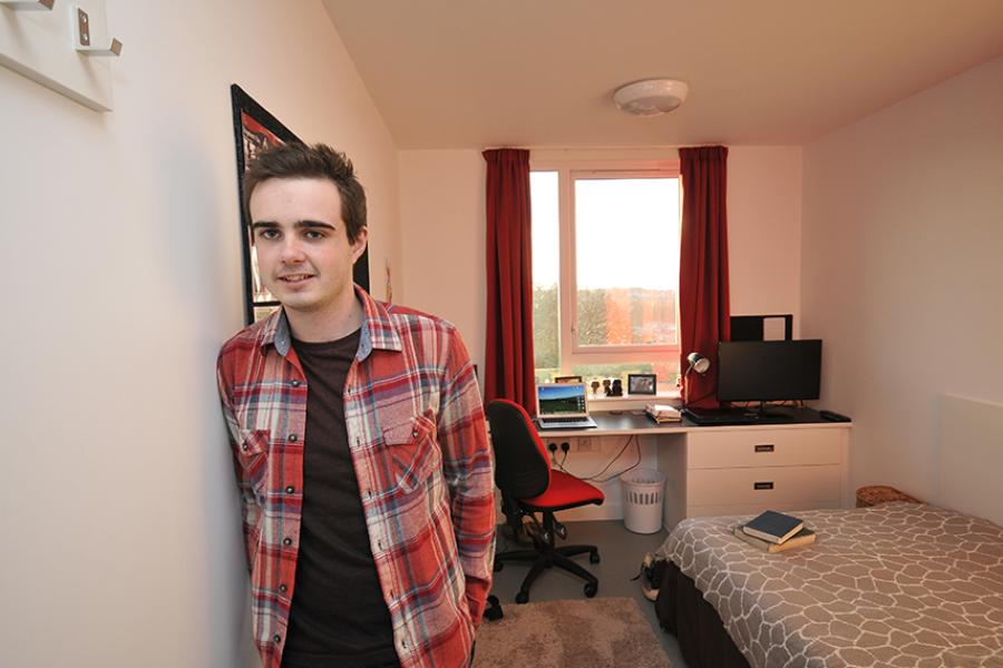 Accommodation - Inside a student flat