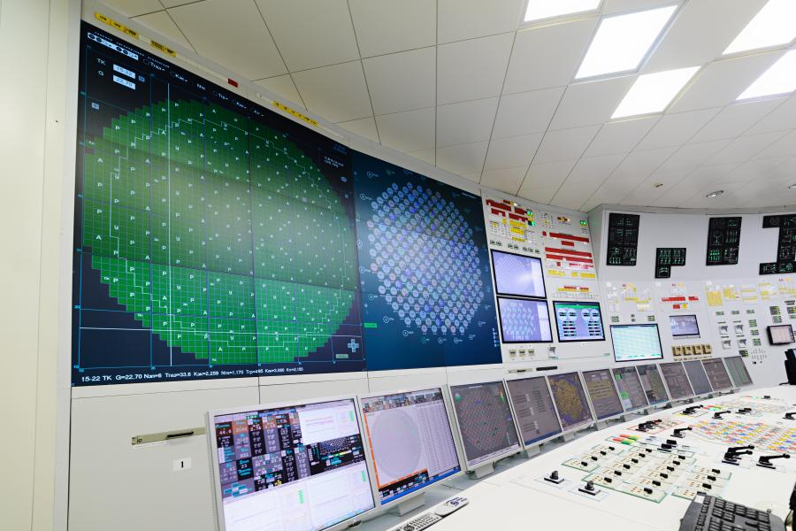 The central control room of nuclear power plant