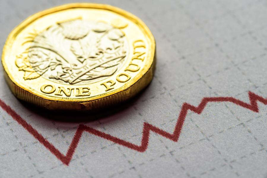 Pound coin and a graph