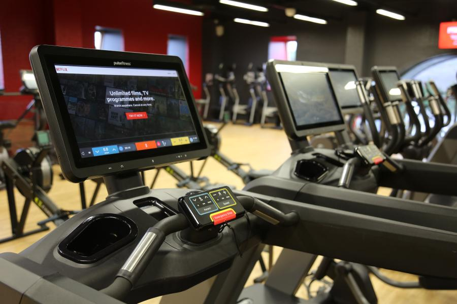 Close up of gym equipment at Canolfan Brailsford