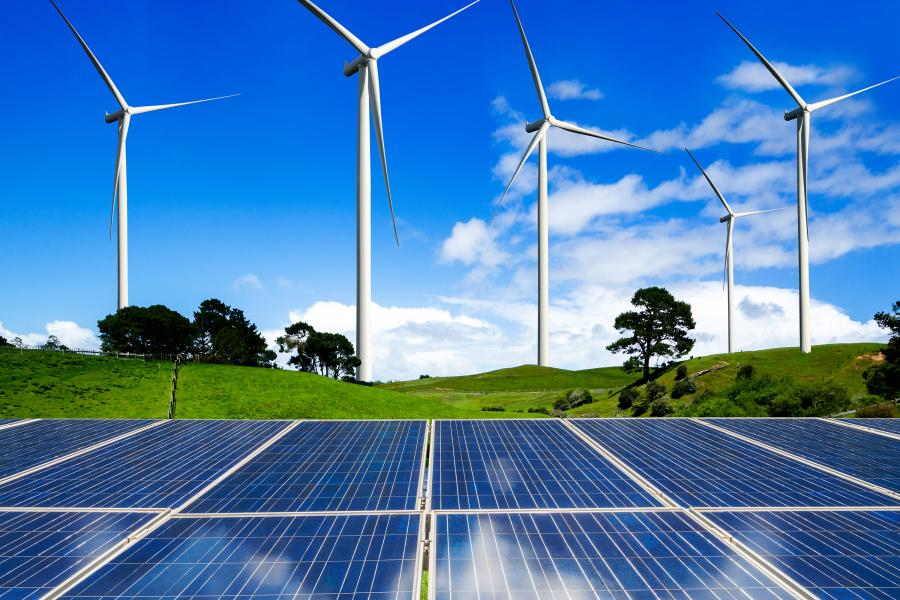 Wind turbines and photo voltaics