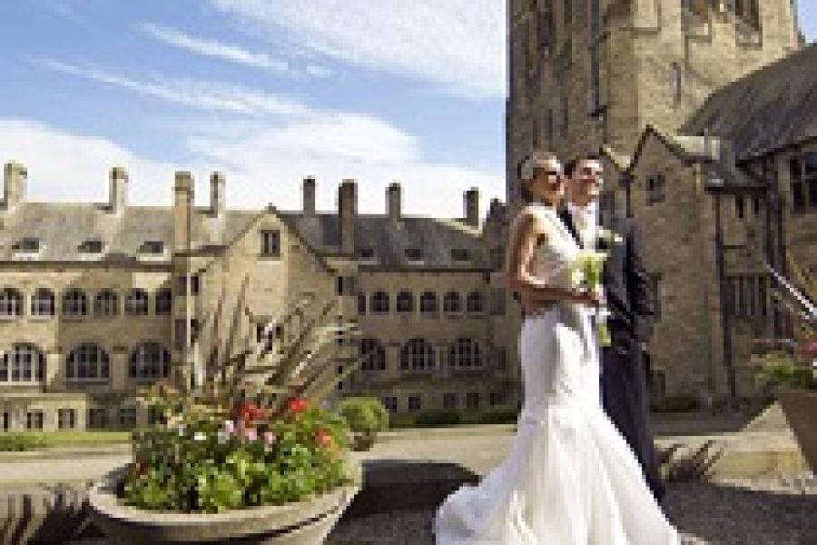 A wedding at Bangor University