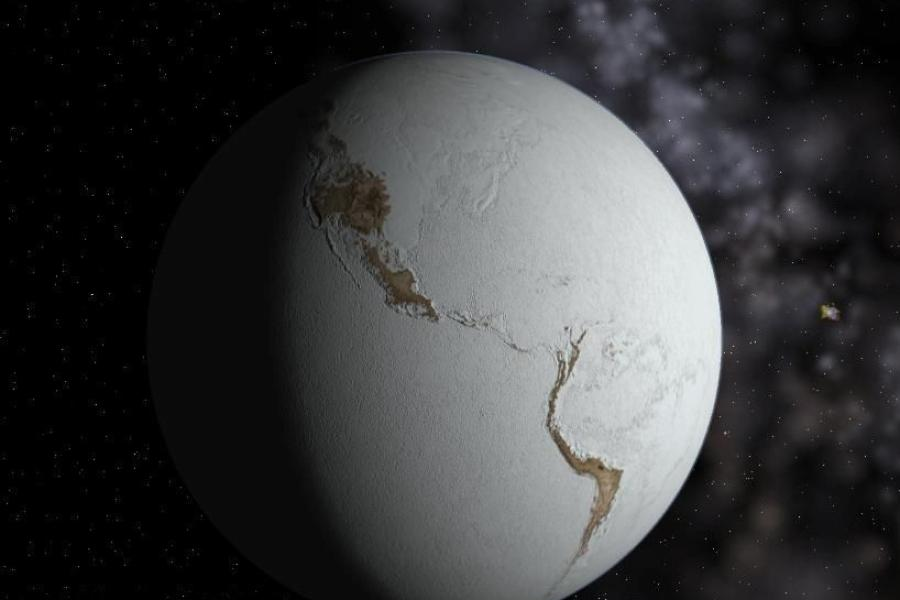 fictional image of 'snowball Earth'
