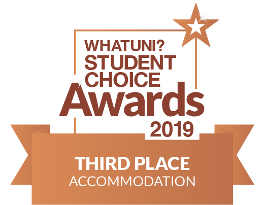 Whatuni accommodation bronze logo