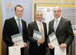 Image of Mark Gittins (KTP Associates), Prof Lew Hardy (Academic Supervisor) and Adrian Moorehouse MBE